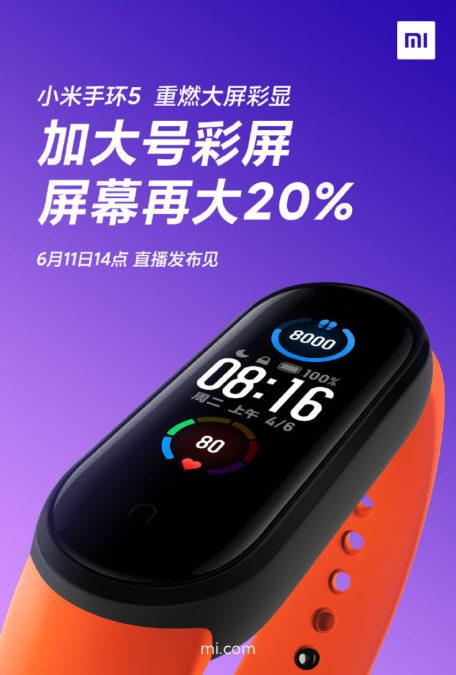 Xiaomi Mi Band 5 Display