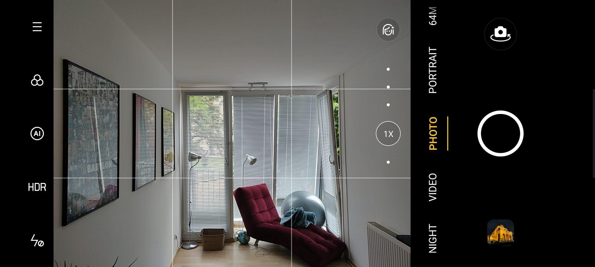 Realme X3 Superzoom camera app UI
