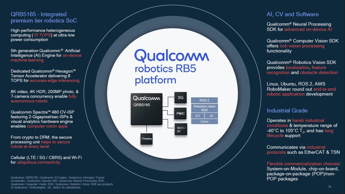 Qualcomm QRB5165 processor for robotics