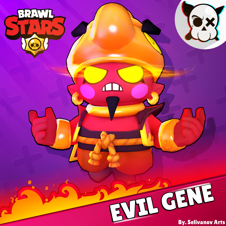 My render Evil Gene : Brawlstars