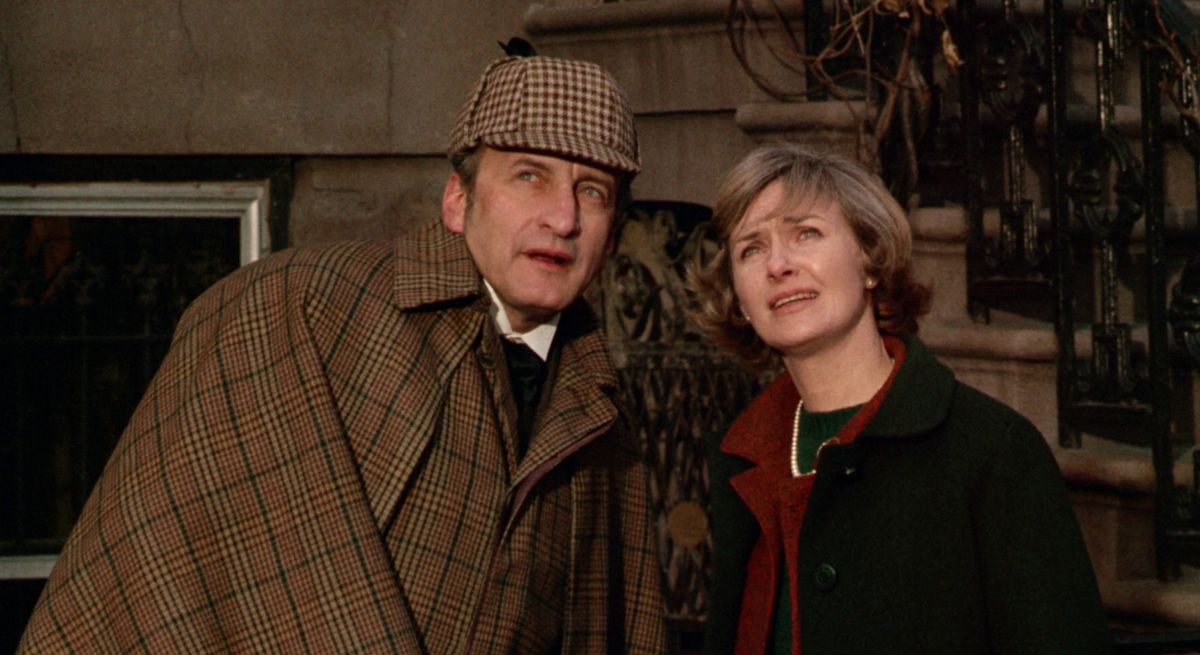 George C. Scott as a faux Sherlock Holmes in They Might Be Giants