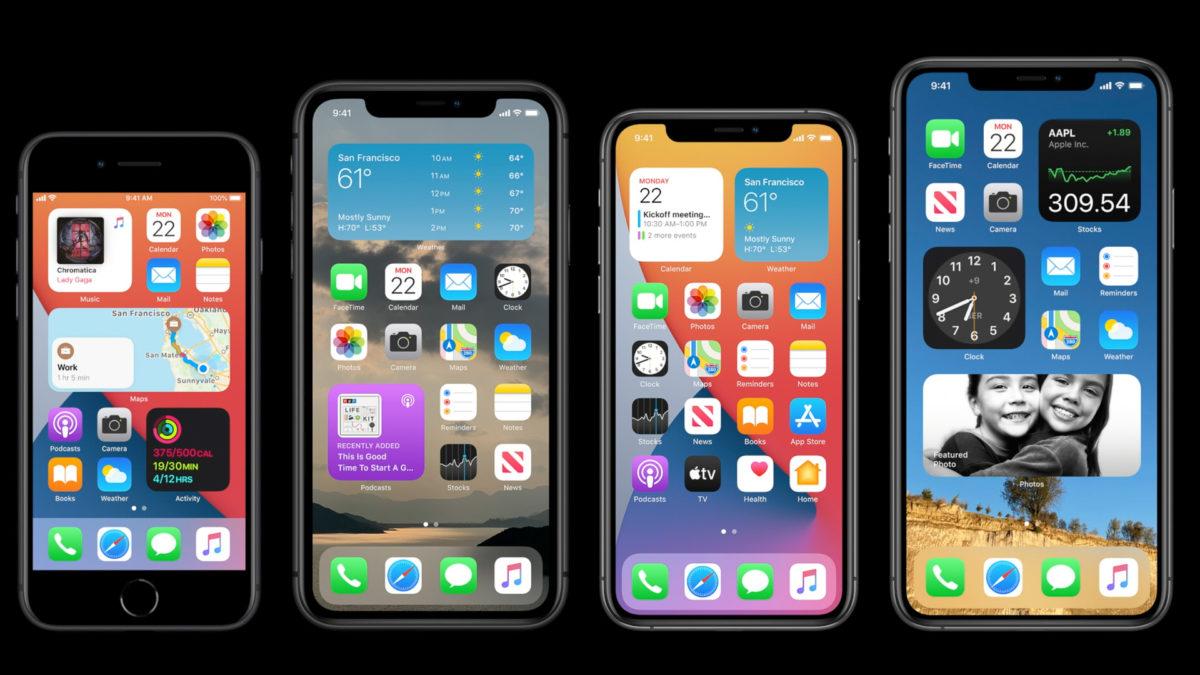 Apple WWDC 2020 home screen widgets