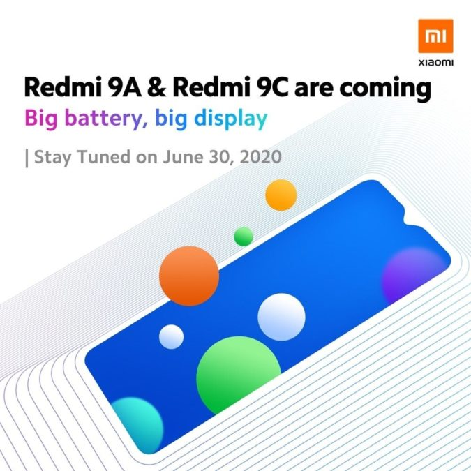 The Xiaomi Redmi 9A and Redmi 9C are coming.
