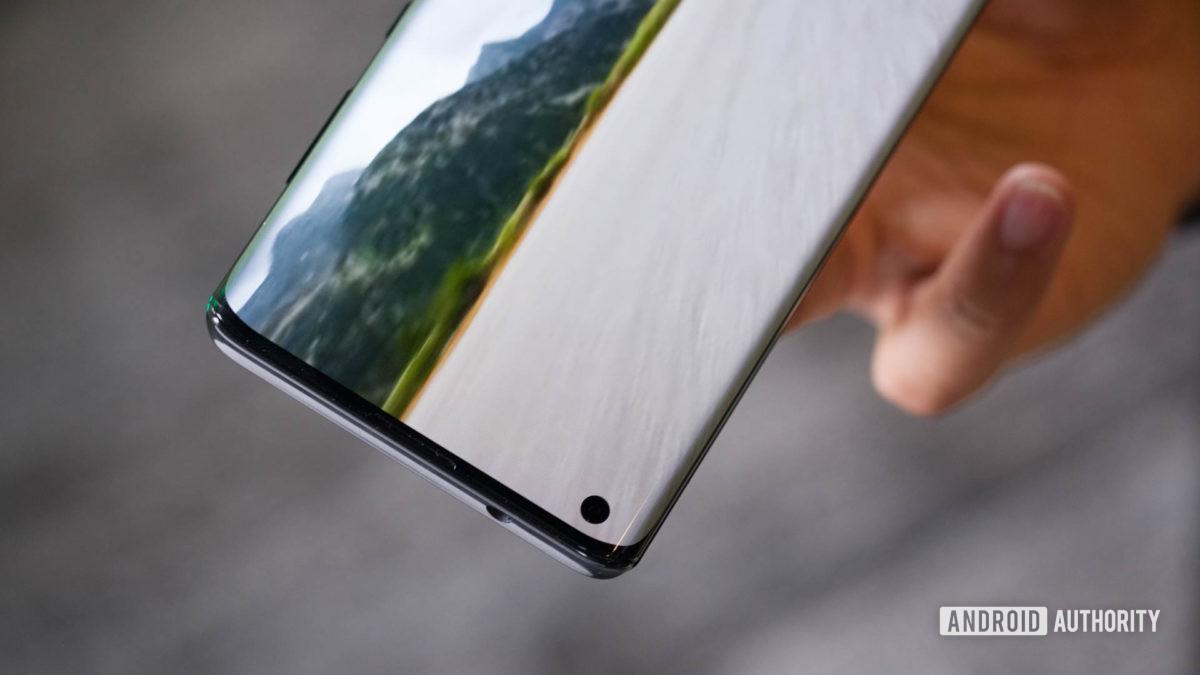 Motorola Edge punch hole