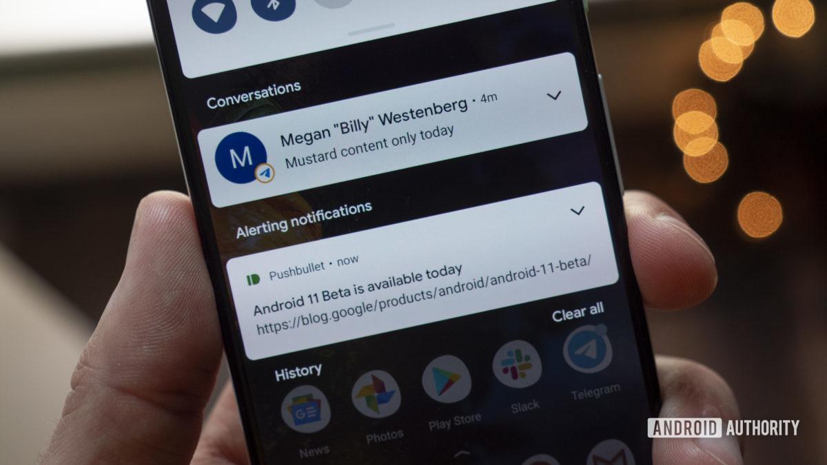 android 11 beta priority conversations telegram pushbullet 1