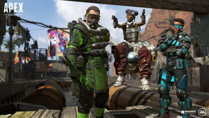 Several characters in Apex Legends.
