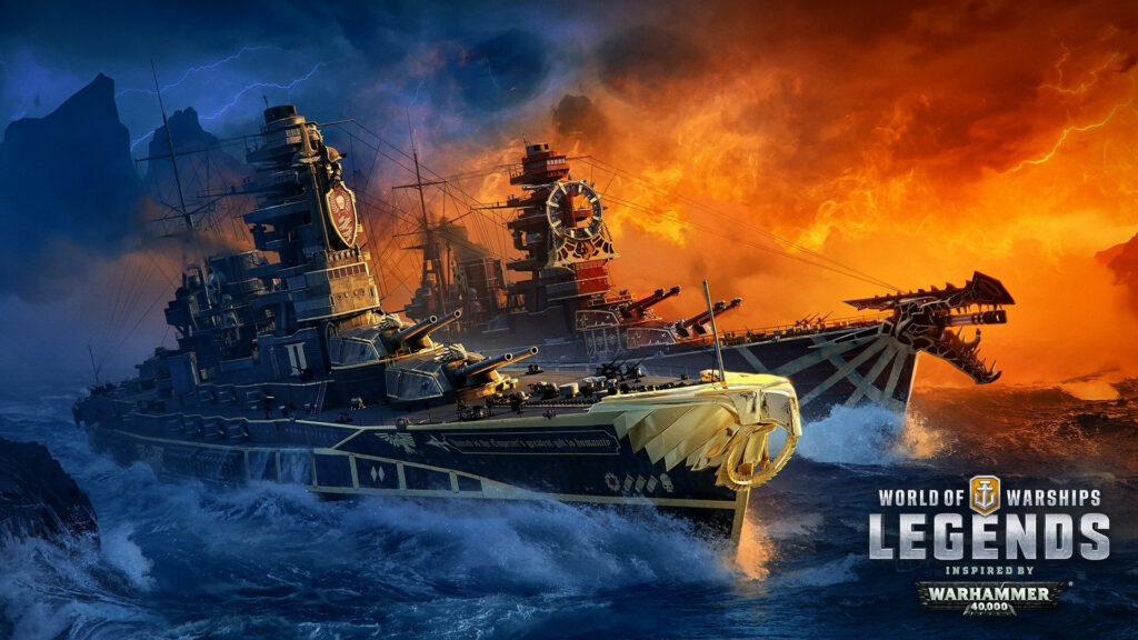 World of Warships: Legends Invaded by Warhammer 40K