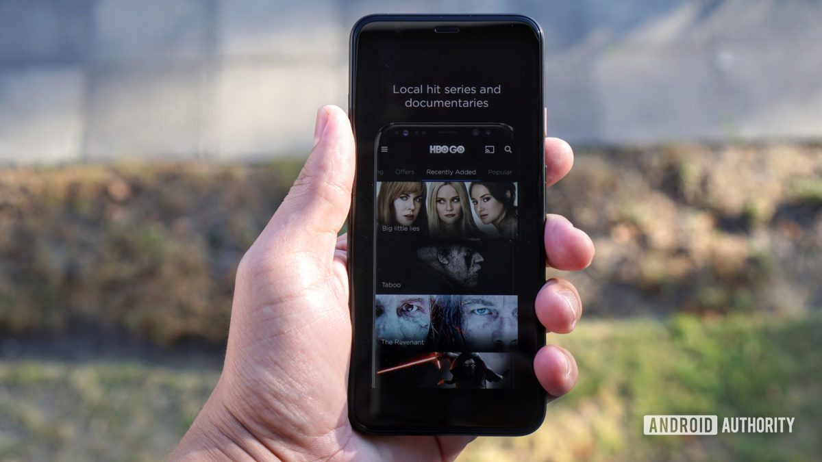 An HBO Go screen on a smartphone.