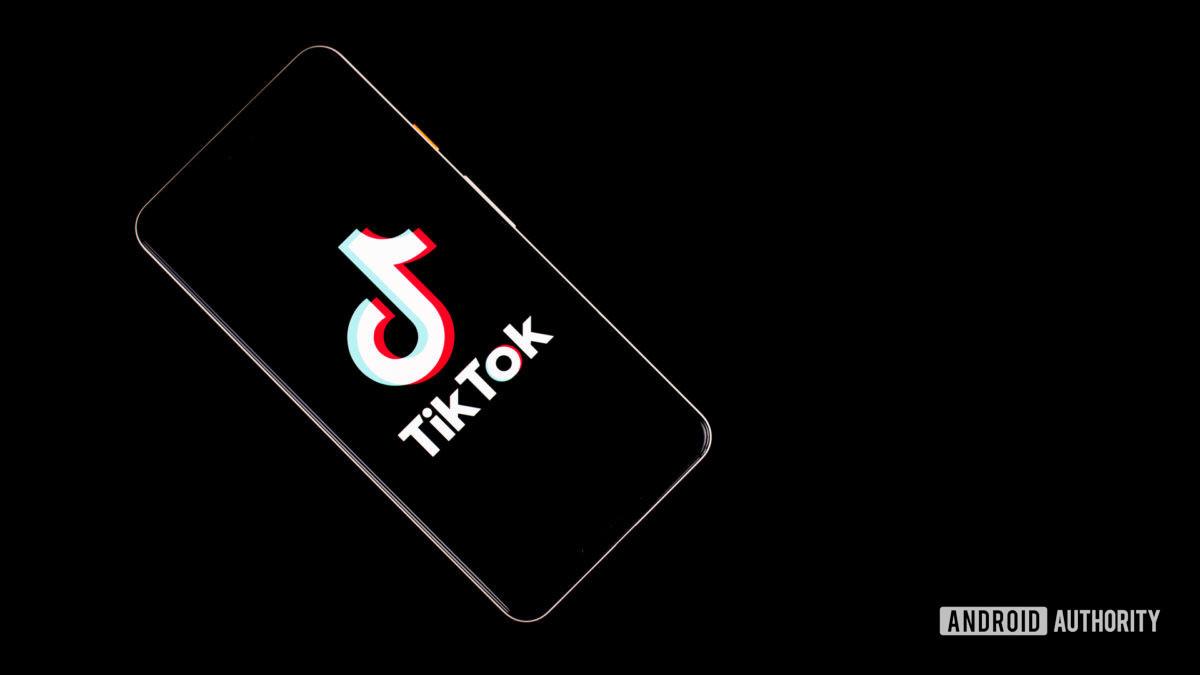 Tiktok stock photo on smartphone
