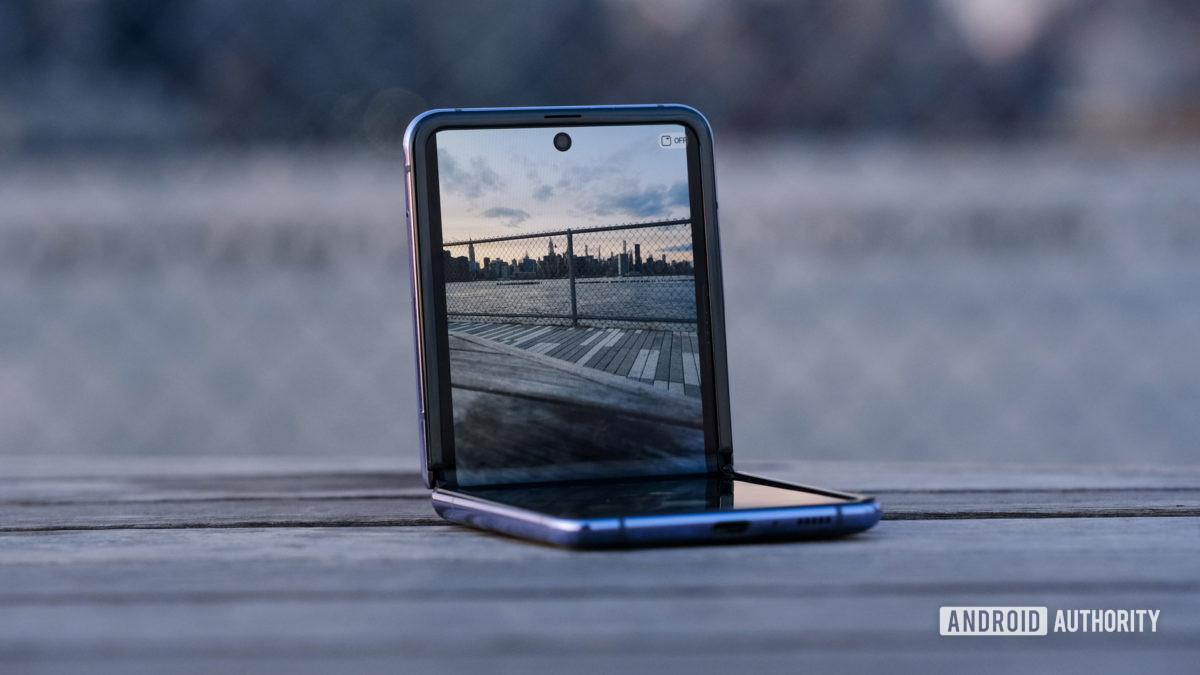 Samsung Galaxy Z Flip camera top half