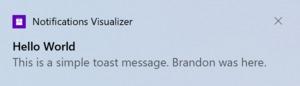 windows 10 notification
