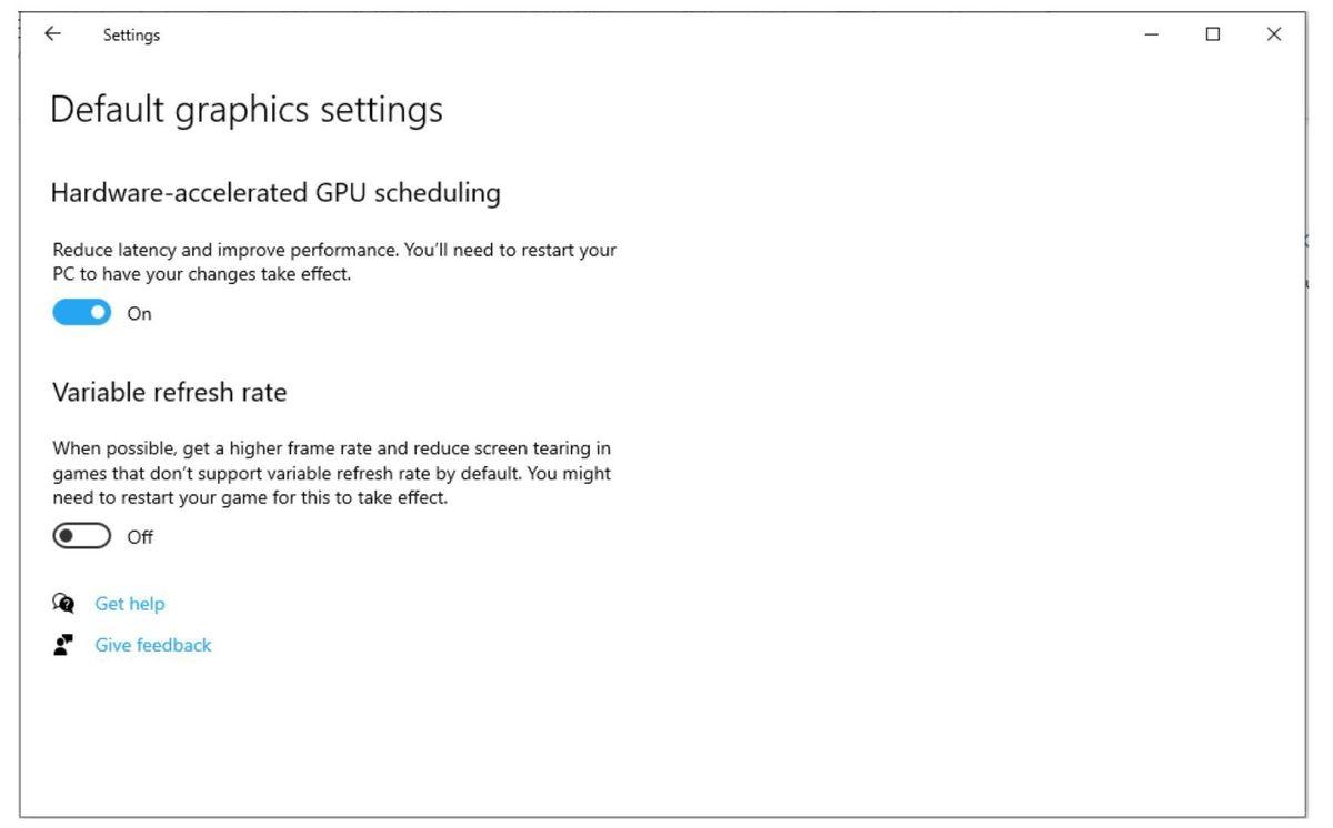 windows graphics settings