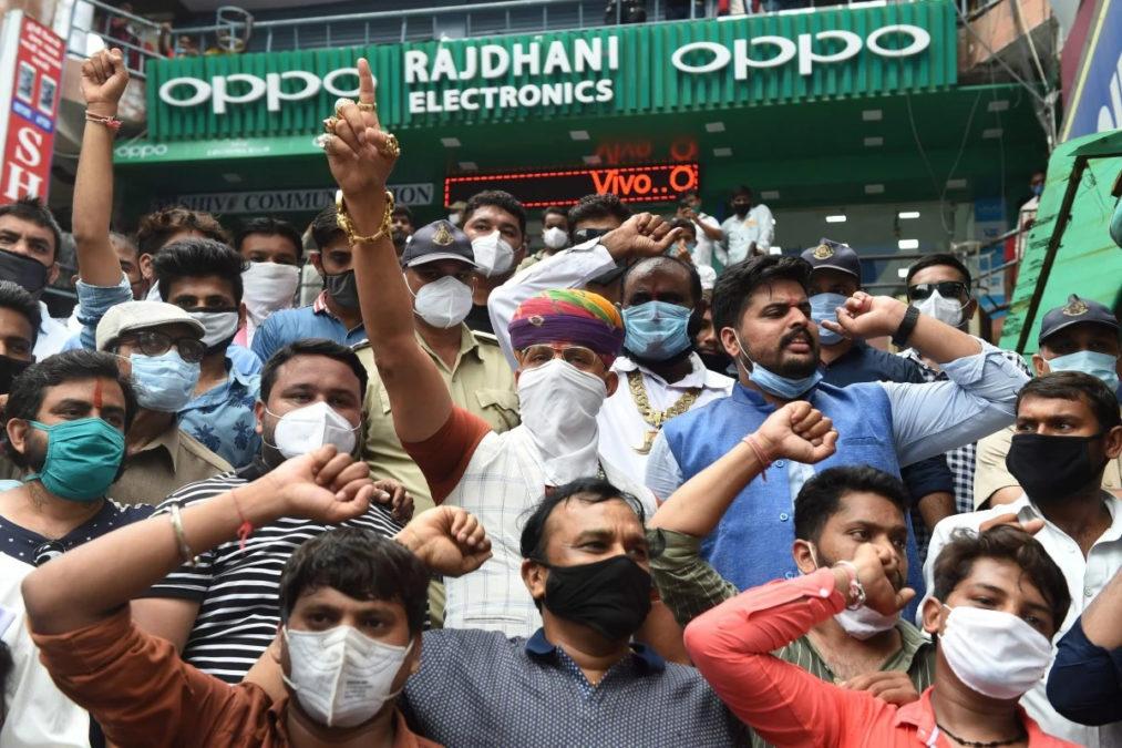 Oppo anti china protest india