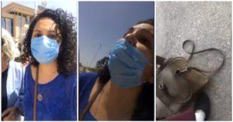 """Egitto, la denuncia dell'attivista Mona Seif: """"Mia sorella picchiata e rapita davanti alla procura del Cairo"""". Le immagini in diretta su Facebook"""