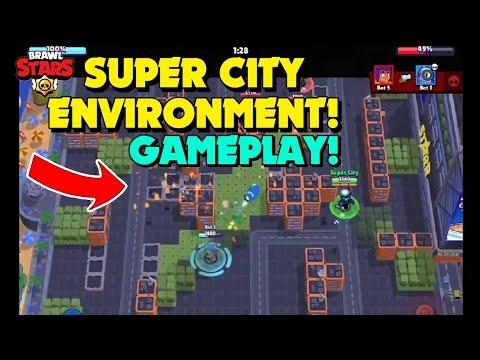 NEW SUPER CITY ENVIRONMENT GAMEPLAY | BRAWL STARS MONSTER ...