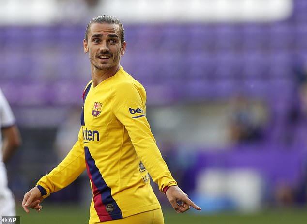 Griezmann missed two chances to extend Barcelona's lead as he struggled during the game