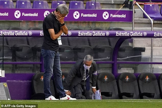 Barcelona coach Quique Setien bemoaned his team's lack of fatigue lack on during their win