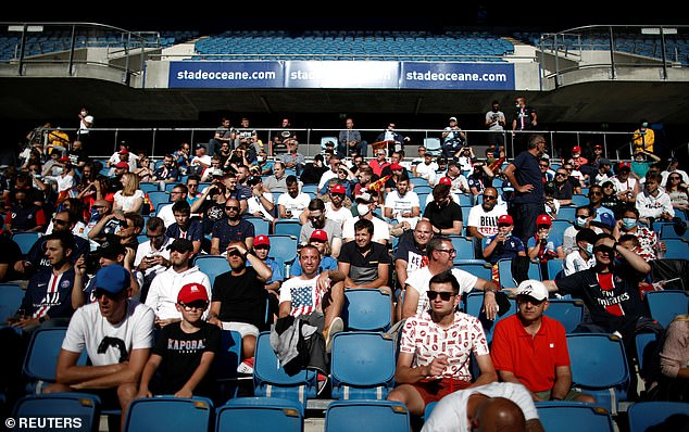 Around 5,000 football fans were able to attend PSG's thrashing of Le Havre in France