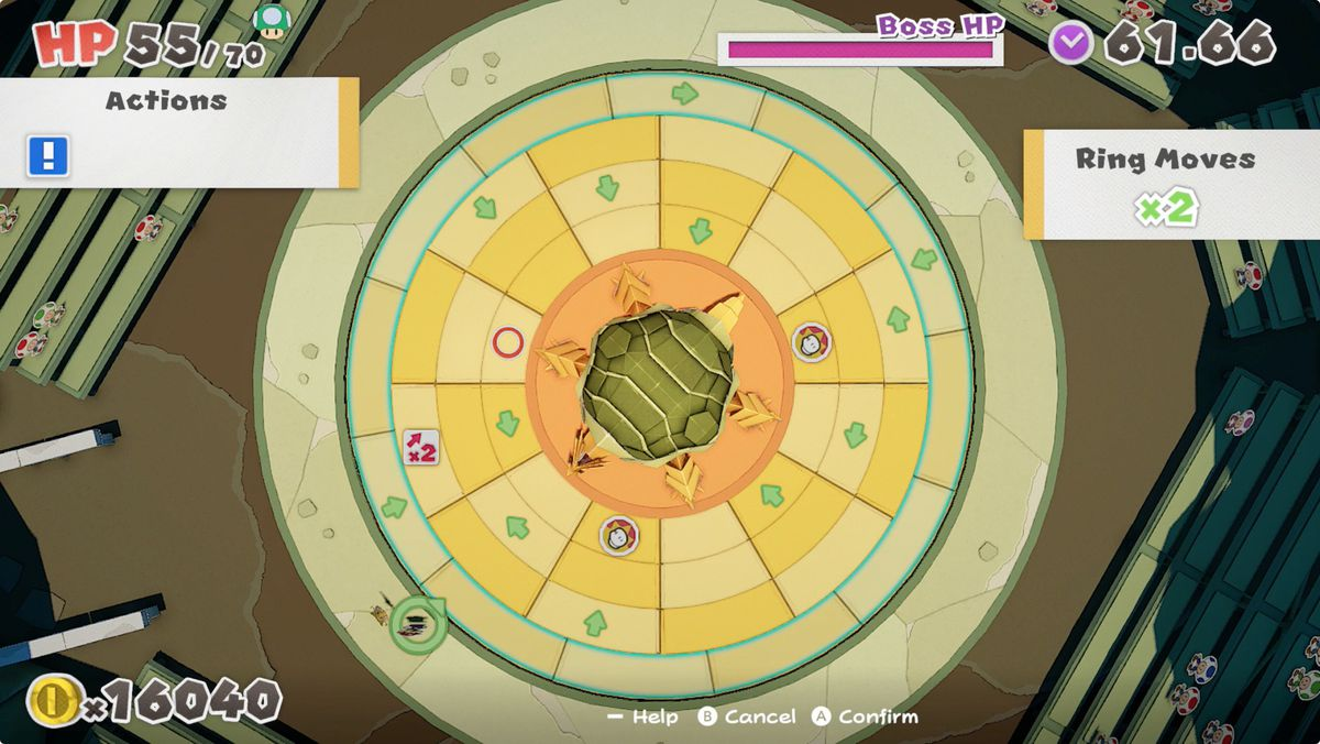Paper Mario: The Origami King's boss fight arena