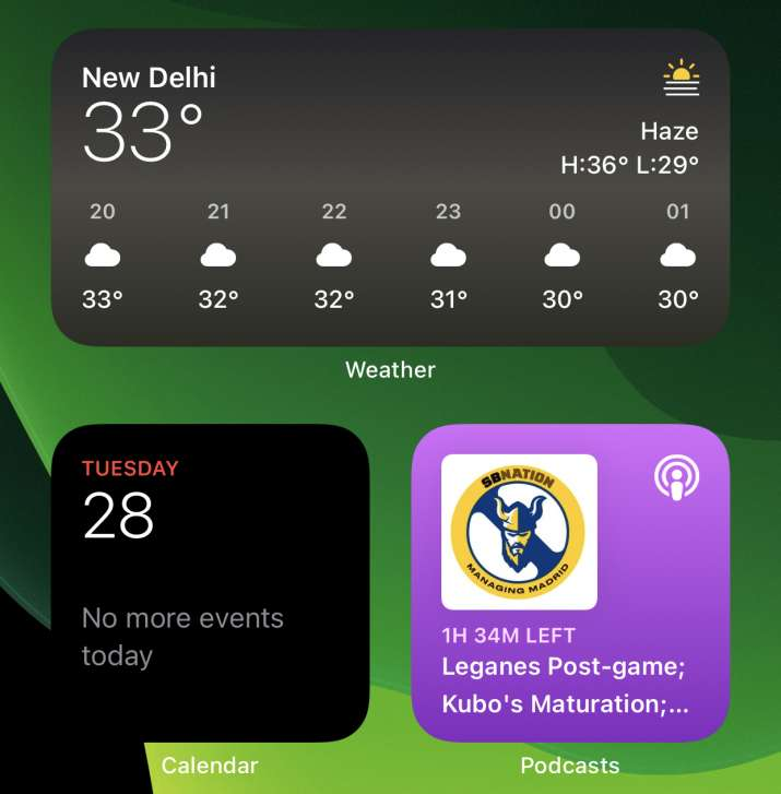 India Tv - iOS 14 widgets