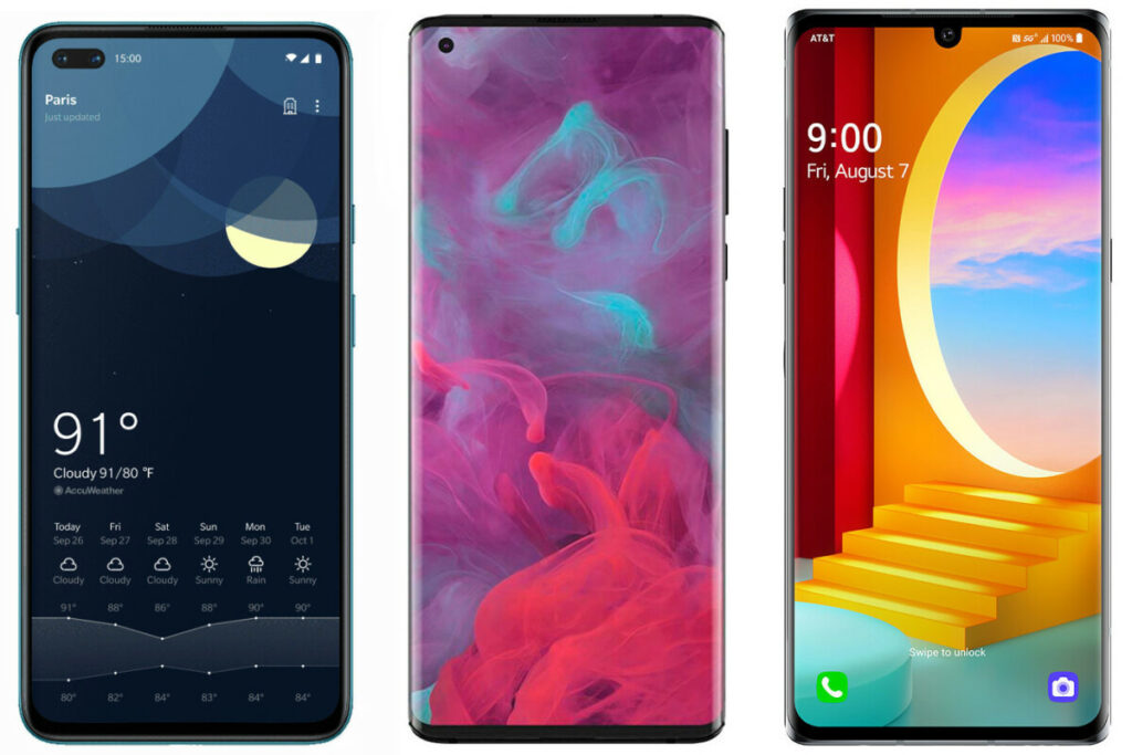 OnePlus Nord 5G vs Motorola Edge vs LG Velvet: Specs comparison