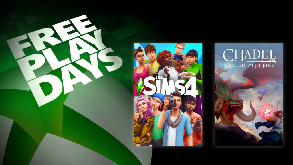 Free Play Days – The Sims 4 and Citadel: Forged with Fire