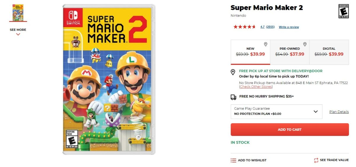 super mario maker 2 switch deal