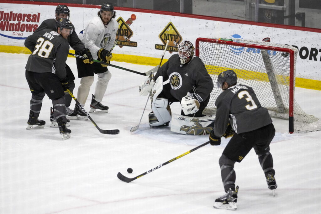 Golden Knights go through game-situation scrimmage