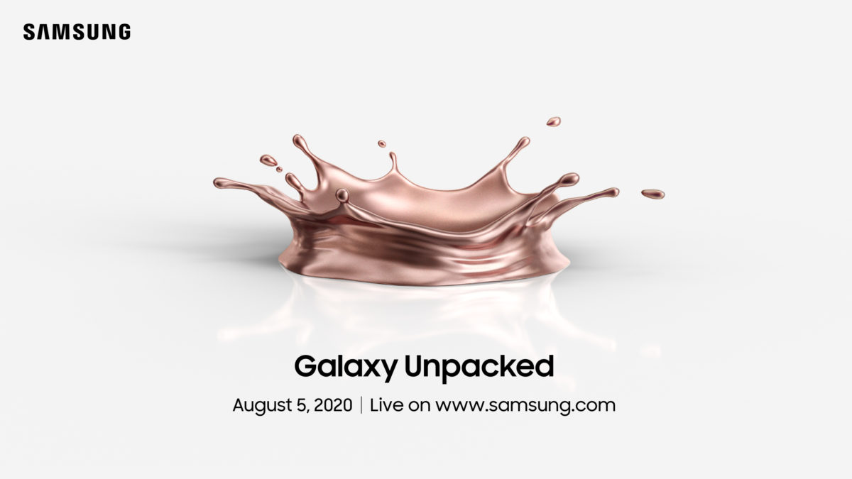 Samsung's Unpacked event featuring Galaxy Note 20 happening virtually on August 5th