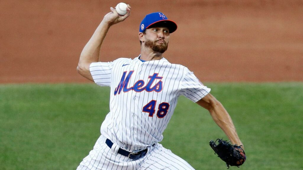 Jacob deGrom throws in simulated game; pitch count will be limited to about 85 in opener