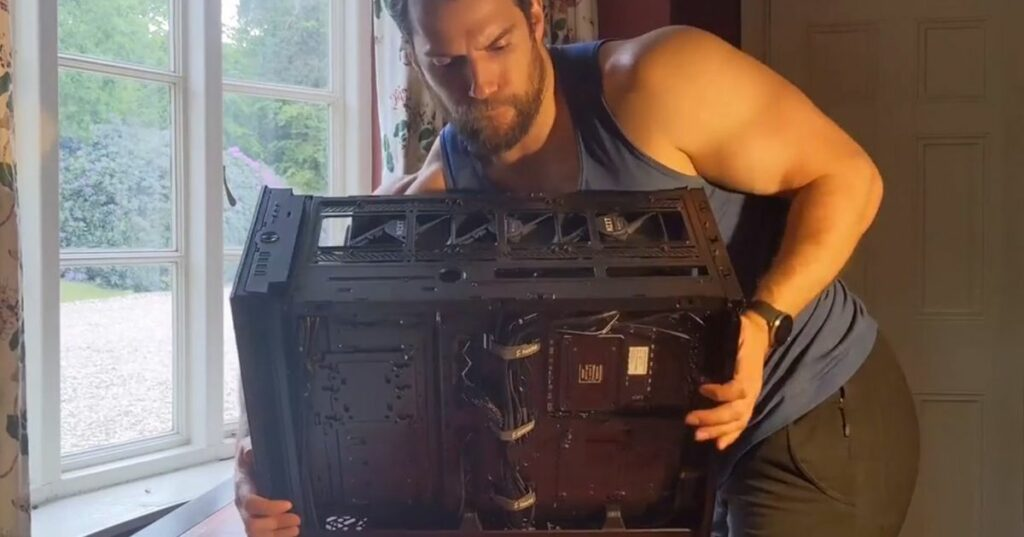 Because you definitely want to watch Henry Cavill build a gaming PC
