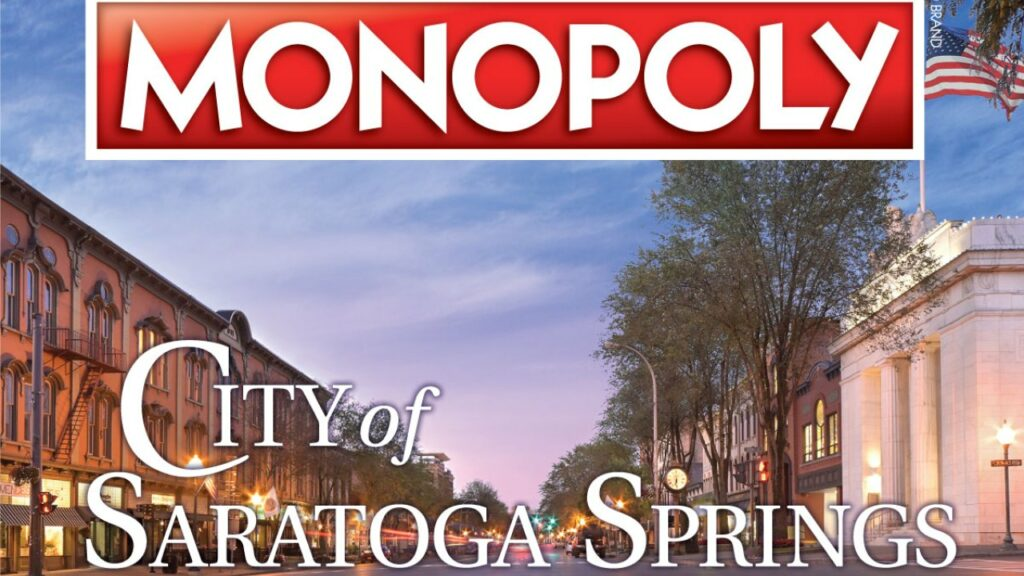 Monopoly board game now customized as Saratoga Springs