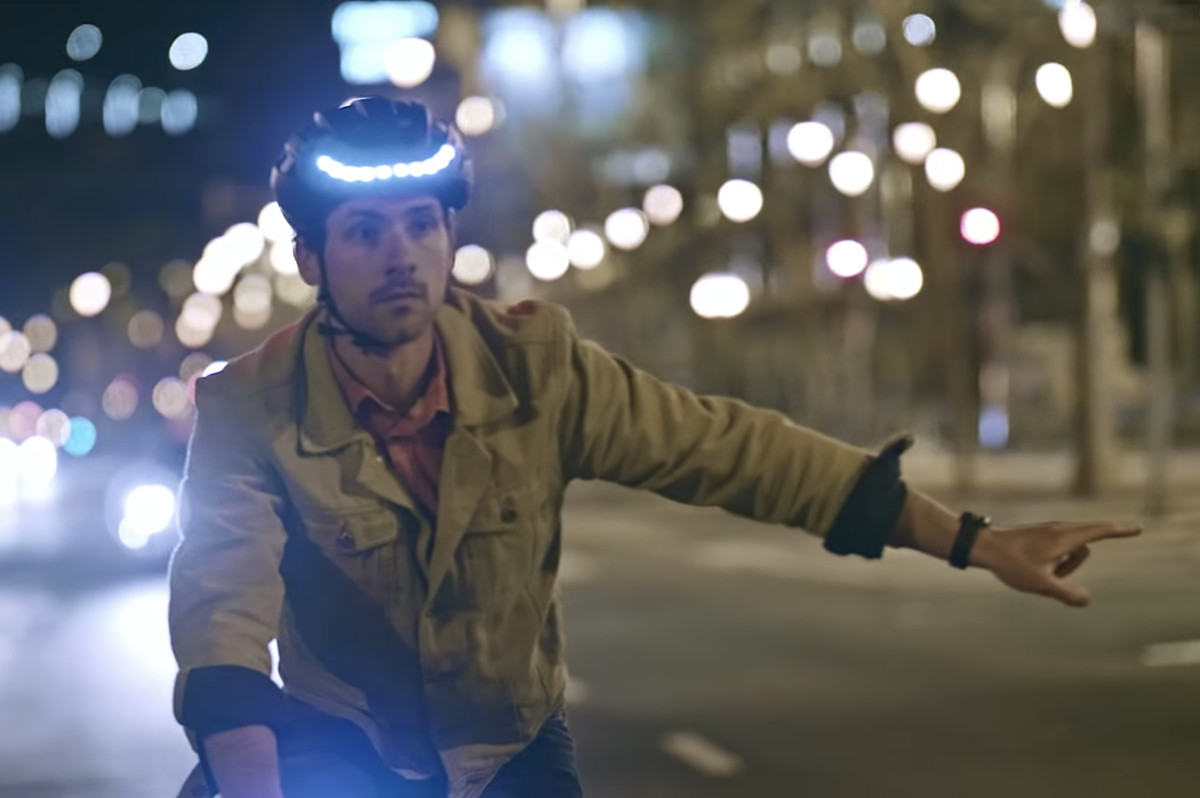 Lumos LED bike helmet