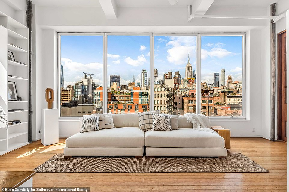 Wow:Susan Sarandon lived in the massive pre-war duplex in Chelsea for 29 years. And the Oscar winning actress has put her her New York City home, which spans 6,061 square feet and two floors, on the market for $7.9 million