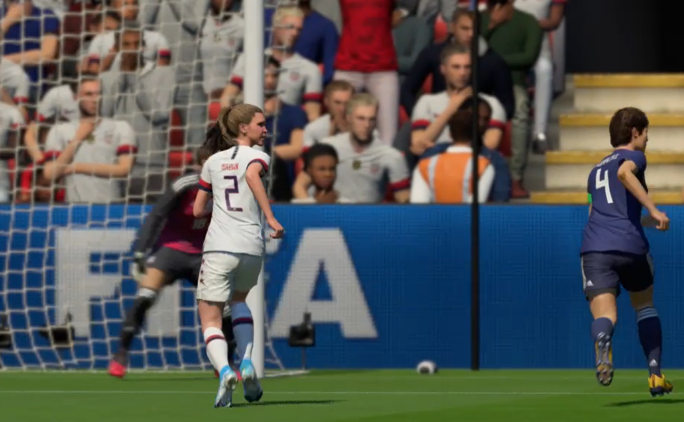 Catholic Memorial's Lauren Brown follows the ball in this test run of the virtual all-star game the Wisconsin Soccer Coaches Association will have on FIFA20 next month.