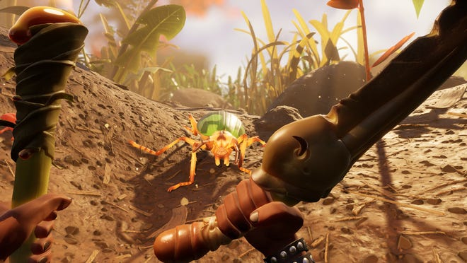 Yes, that is a spider coming along beside you in the video game Grounded.