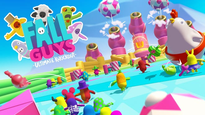 """Fall Guys: Ultimate Knockout is a humorous take on the battle royale genre with 60 cute """"fall guys"""" competing in rounds of contest until one is left standing."""