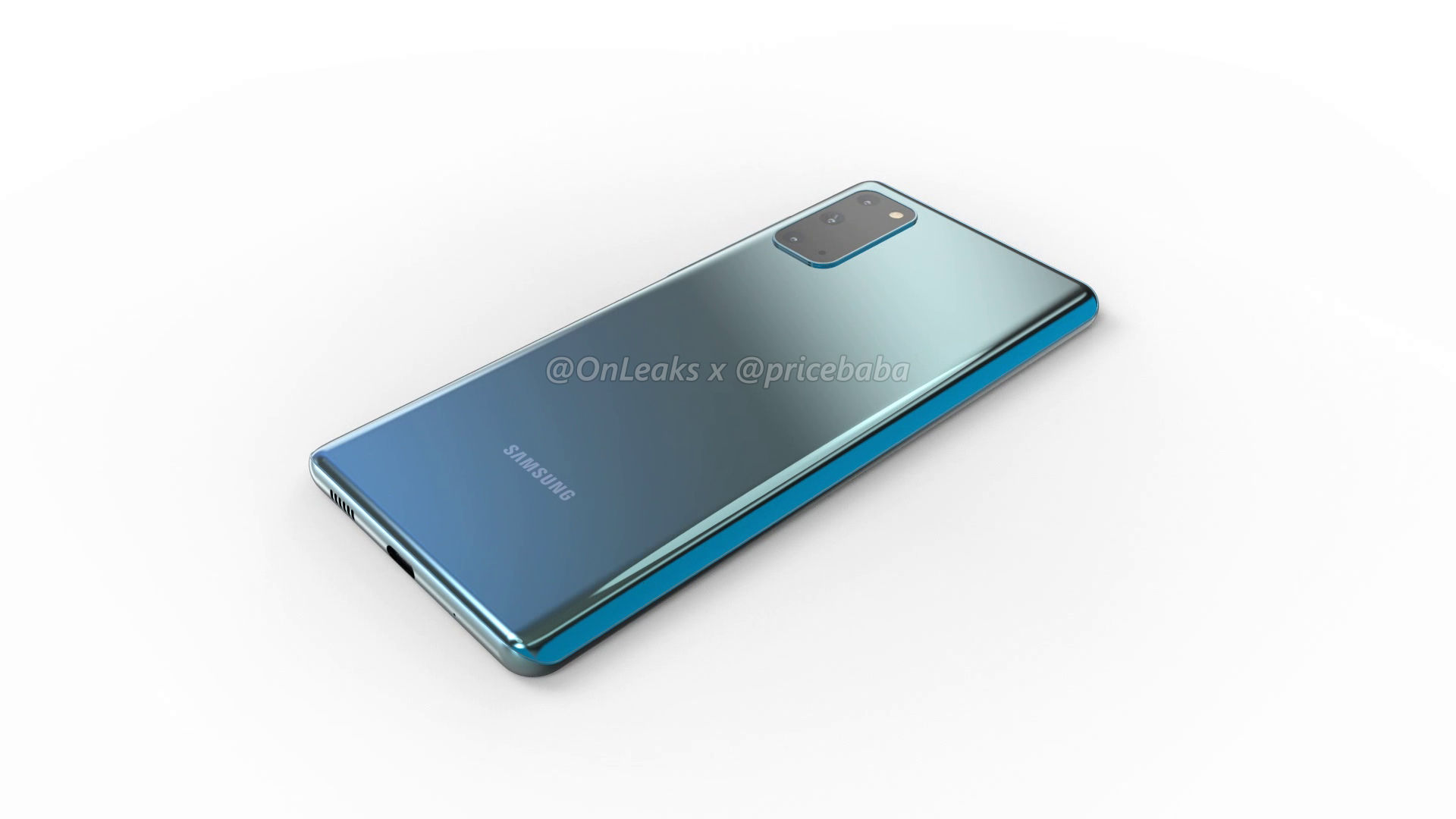 Samsung Galaxy S20 Fan Edition renders
