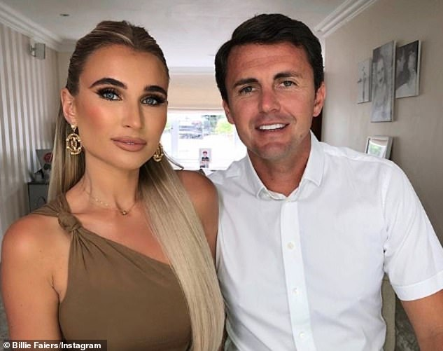 Turning a corner: Bilie Faiers and husband Greg Shepherd have turned a corner with their neighbours, following a long-running feud over their plans to build a dream home in Essex