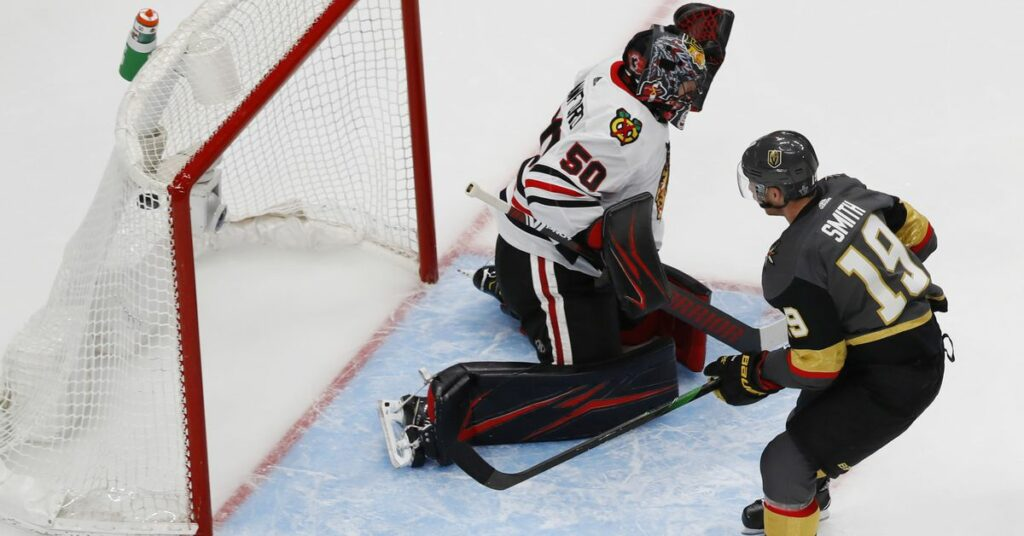 Blackhawks vs Golden Knights Stanley Cup Playoffs Game 1: Score, recap, stats, highlights