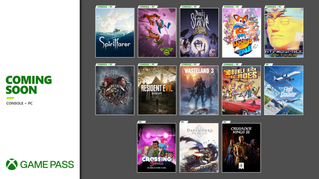 Coming Soon to Xbox Game Pass for PC & Console: Spiritfarer, Microsoft Flight Simulator, Battletoads, Tell Me Why, Wasteland 3 and More