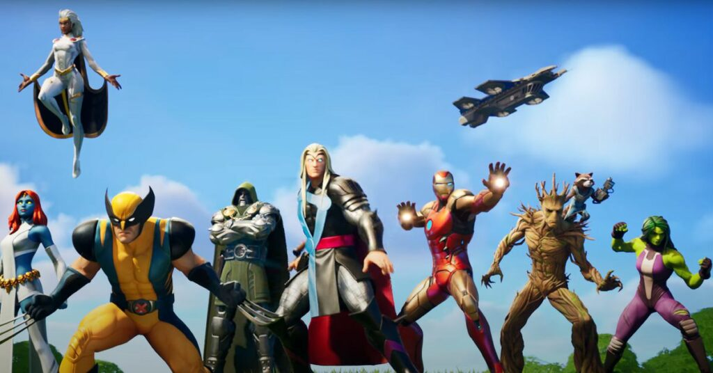 Fortnite's Chapter 2 season 4 Marvel cinematic and battle pass trailer