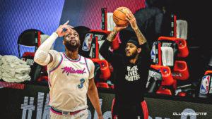 Dwyane Wade, Carmelo Anthony, Blazers, Heat