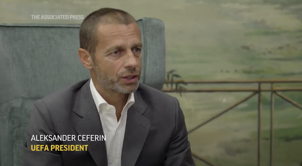 UEFA President Aleksander Ceferin considering single-game format for Champions League final eight