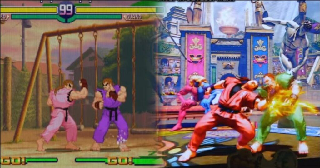 Champion Edition development footage compared to Street Fighter 4 and Street Fighter Alpha by HiFight