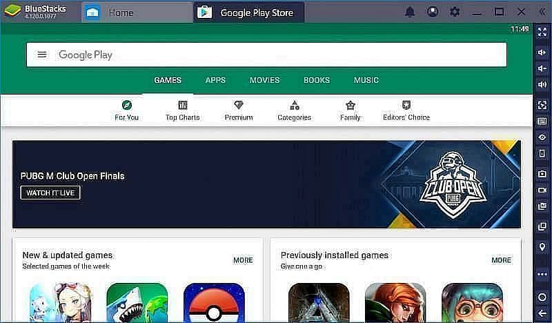 Search Free Fire using the search bar (Image credit: Bluestacks.com)