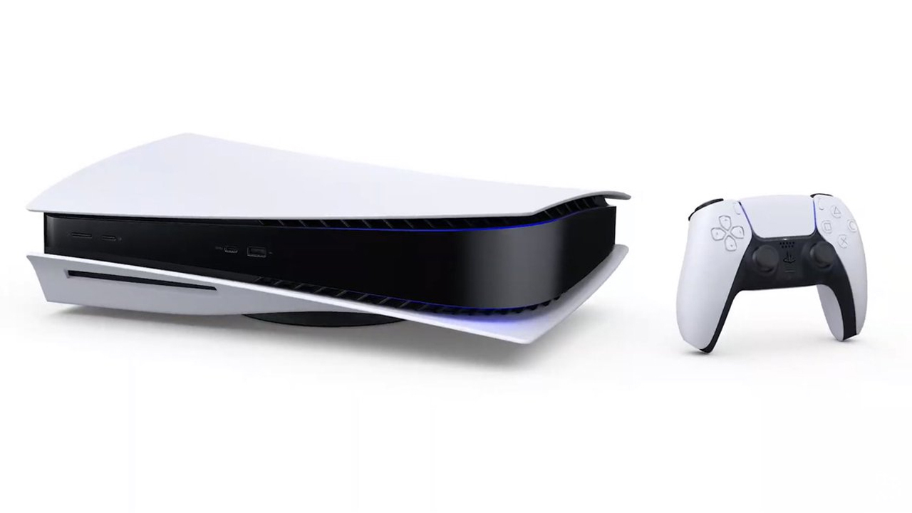 The PS5 can be upright or sideways.