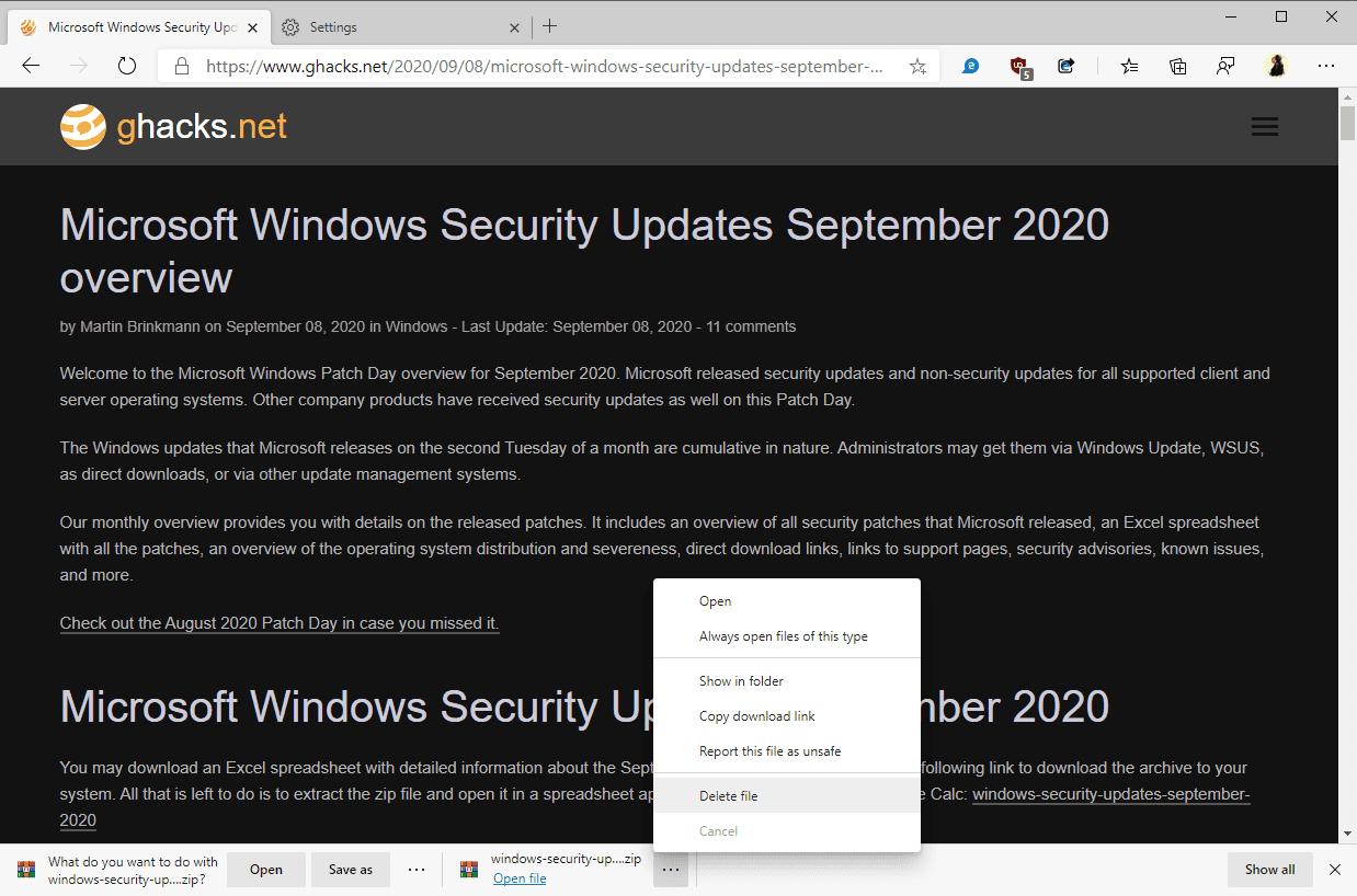 Edge remove download