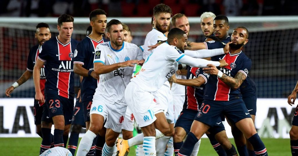 PSG defeated by Marseille, Neymar among the five stars sent off as a giant brawl Mars