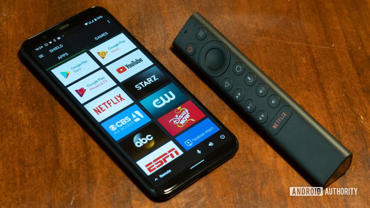 2019 Nvidia Shield TV remote control and app